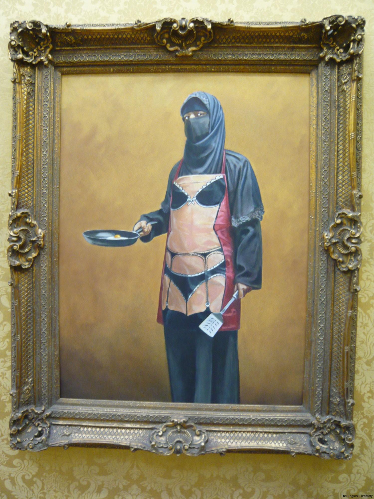 Banksy - Burlesque Burka Apron