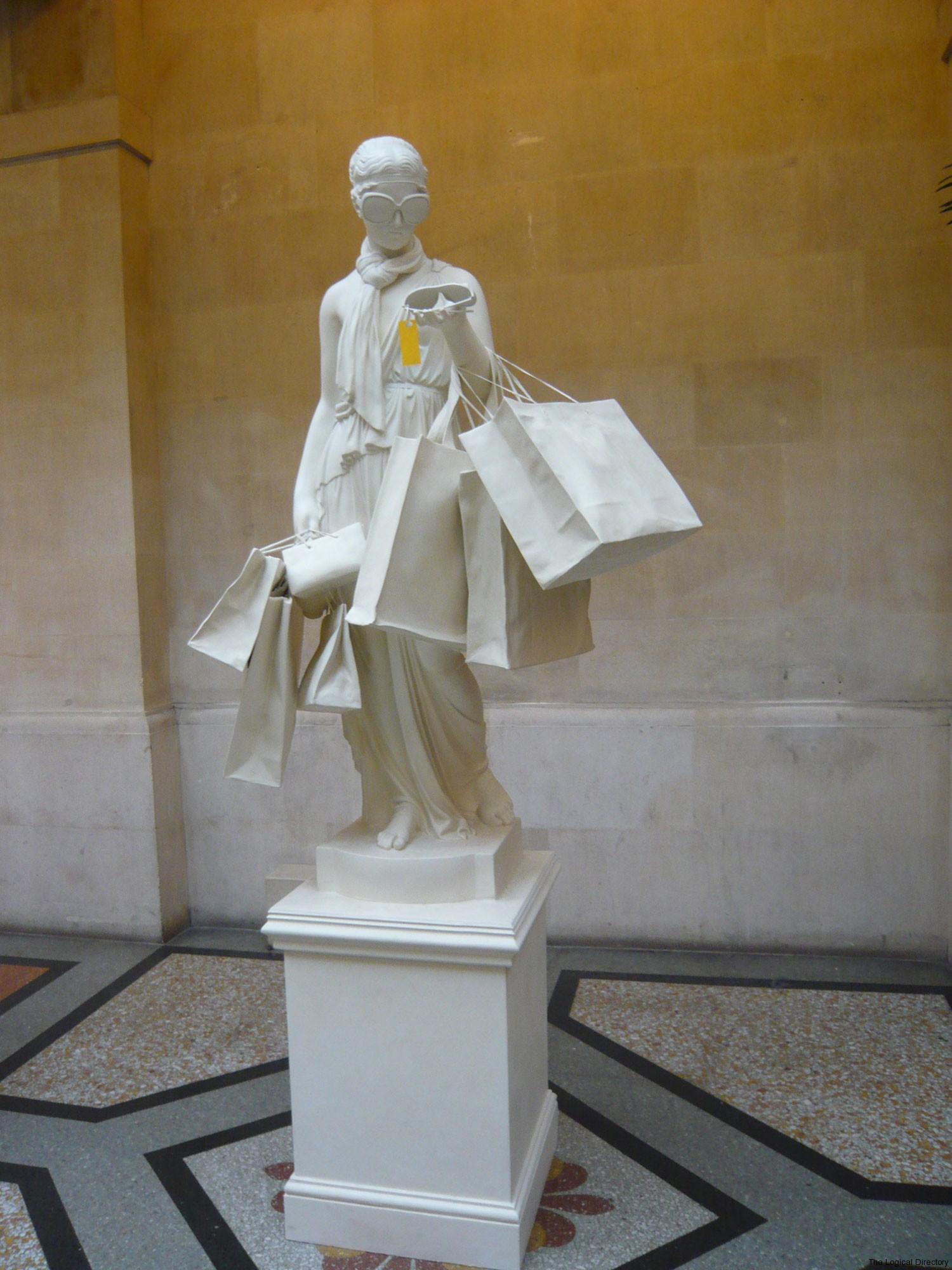 Banksy Designer Shopper Statue