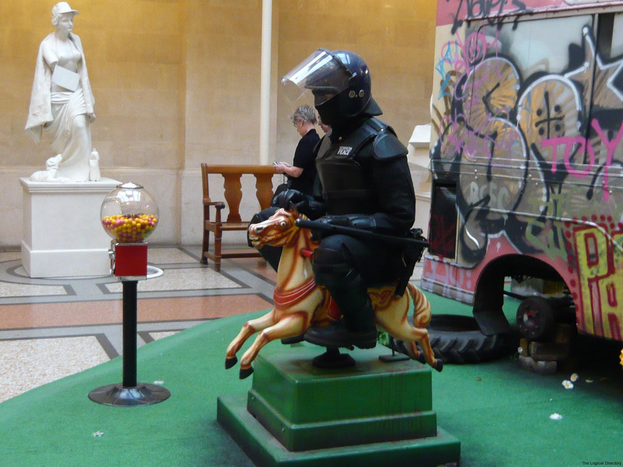 Banksy Playground Riot Officer