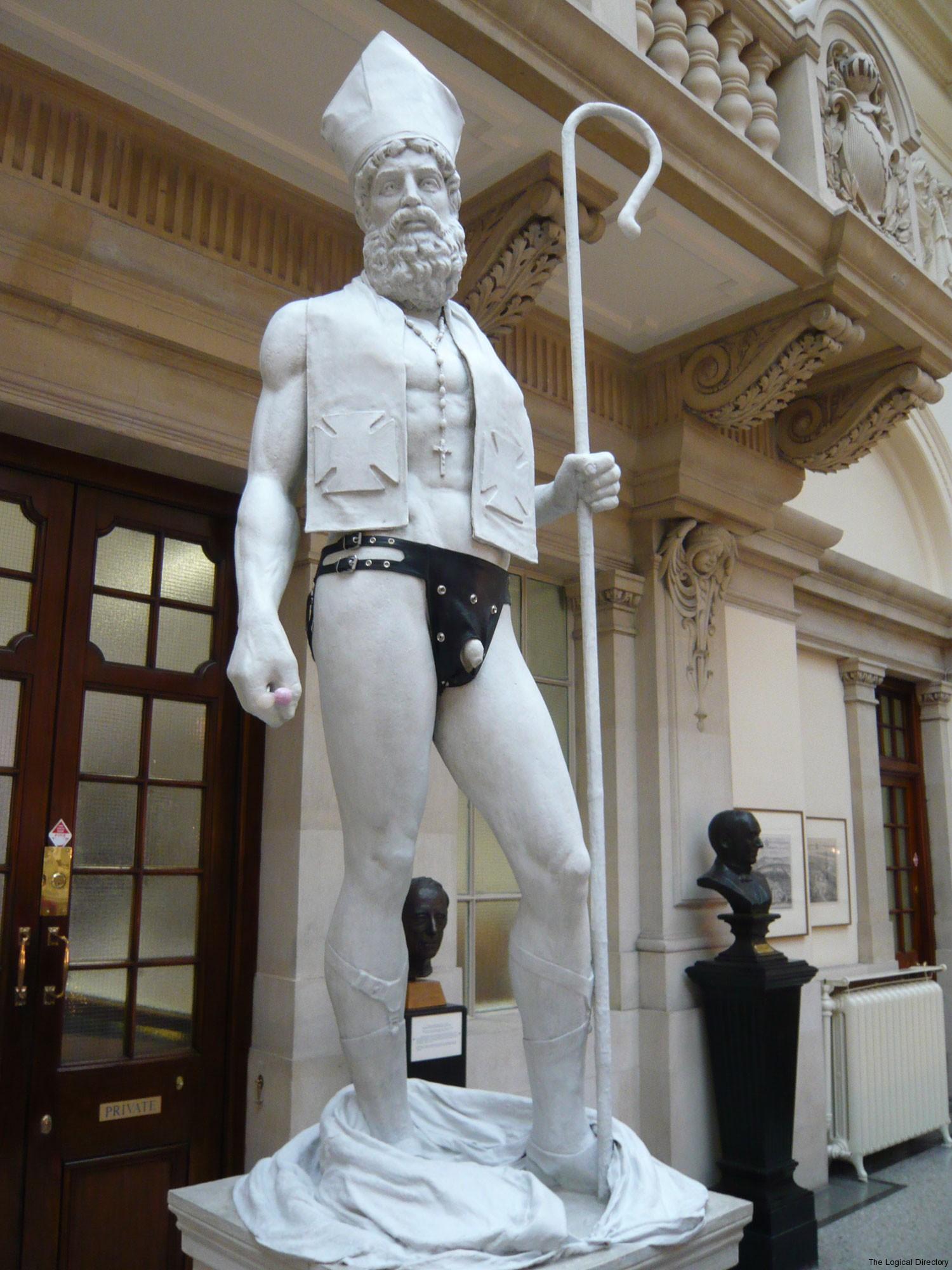 Banksy Priest in Bondage Statue