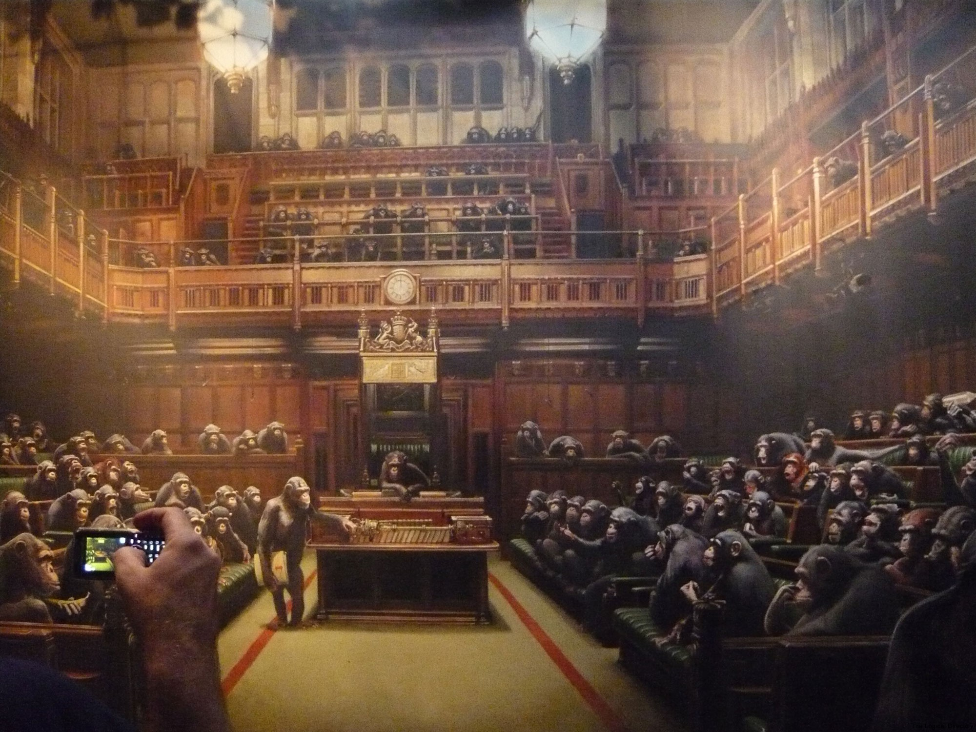Banksy - Primate Houses of Parliament
