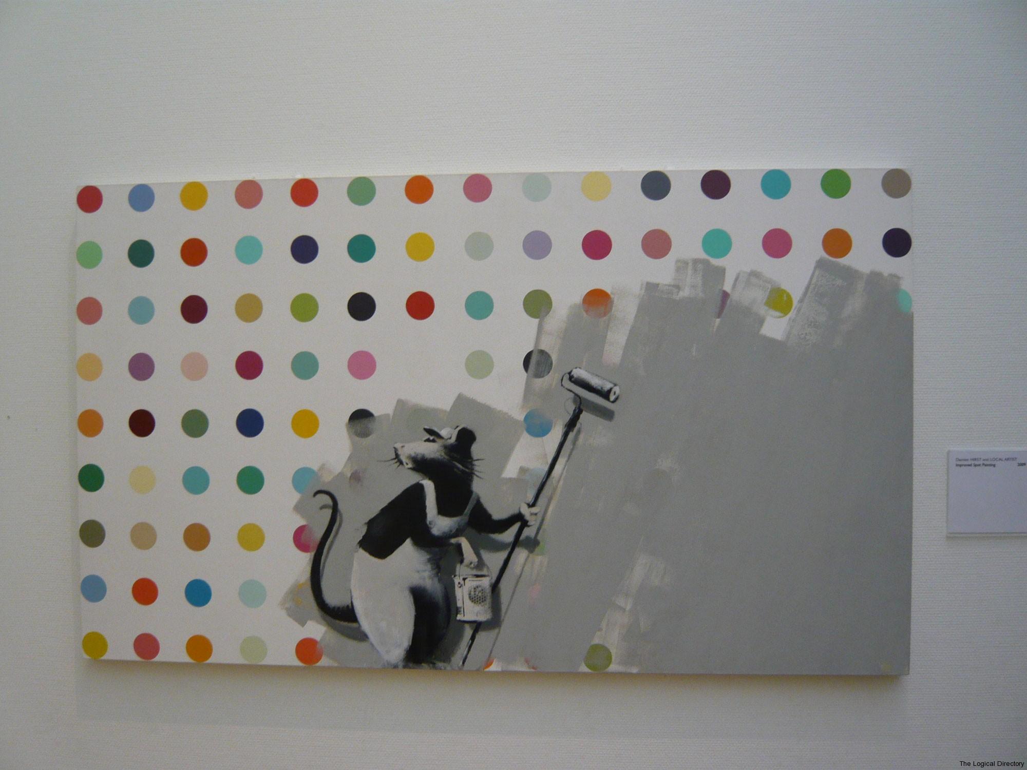 Banksy Rat vs Damien Hirsts Dots