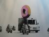 Banksy - Donut Van Police Escort