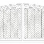 Bi-Fold Rounded Wooden Gate