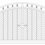 Rounded Ornate Top Bi-Fold Wooden Gates