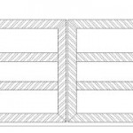Horizontal Slat Wooden Gate